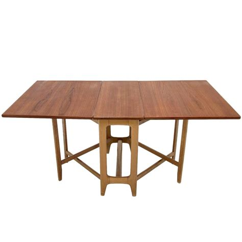 foldable dining table foldable dining table by bendt winge at 1stdibs