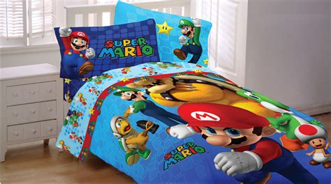 mario brothers bedding set nintendo fresh look