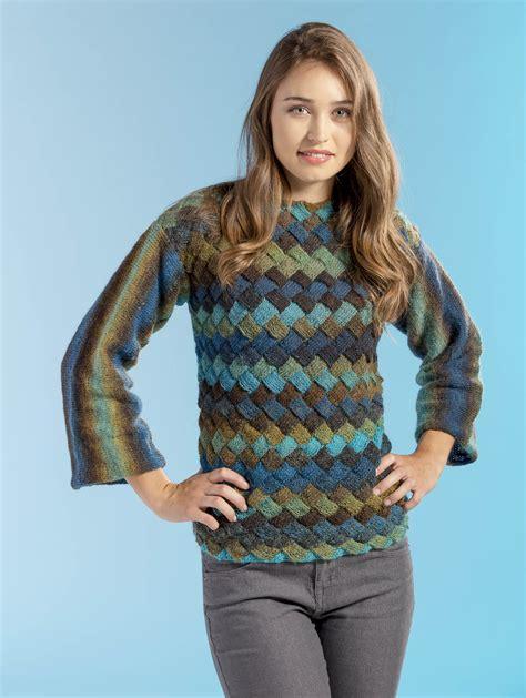 entrelac knitting patterns sweater free entrelac knitting pattern the landscape sweater in