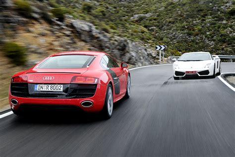 Audi R8 v Lamborghini Gallardo LP560 4   Evo