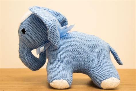 knitted elephant free pattern knit an elephant skanda vale hospice