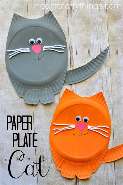 cat craft for paper plate cat craft i crafty things