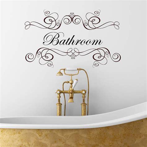 boudoir or salle de bain wall sticker by nutmeg notonthehighstreet