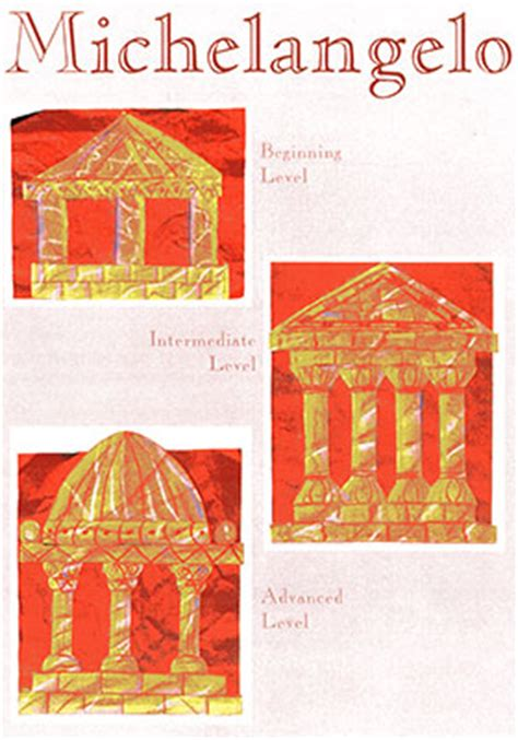 renaissance crafts for michelangelo meet the masters