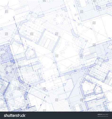 blue print of my house house plan architecture blueprint bitmap copy my vector