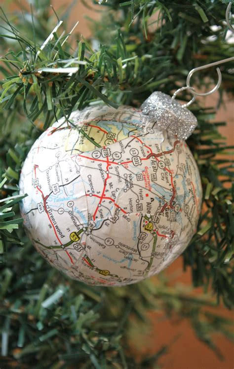 map ornaments map ornaments