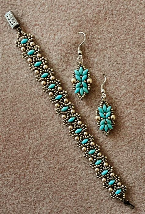 superduo bead patterns s crafty inspirations bracelet and earring set duo