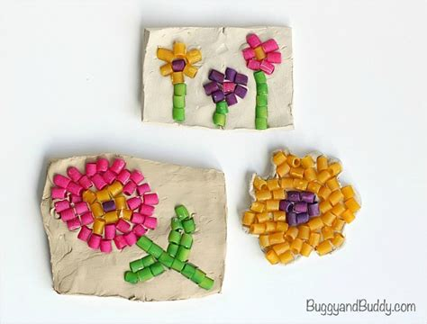 craft projects for toddlers pasta mosaic project for buggy and buddy