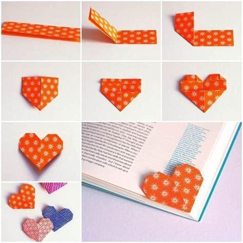 origami bookmark tutorial best 20 origami hearts ideas on