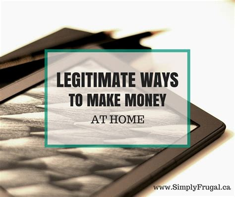 at home for money 5 legitimate ways to make money at home