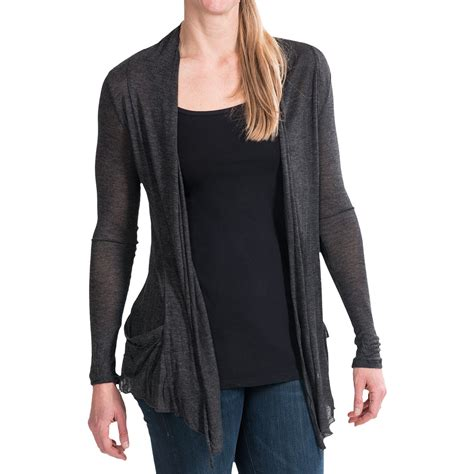 Panhandle Slim Open Jersey Knit Cardigan For