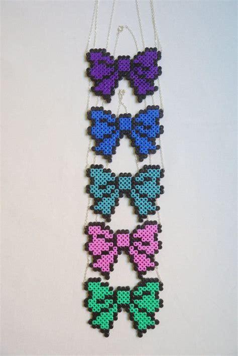 perler bead jewelry patterns 63 best perler bowtie images on hama