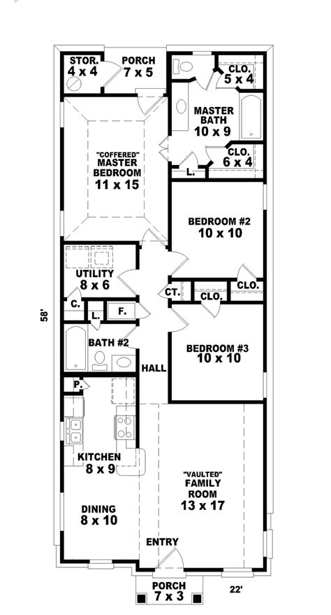 home plans for narrow lot hannafield narrow lot home plan 087d 0013 house plans and more