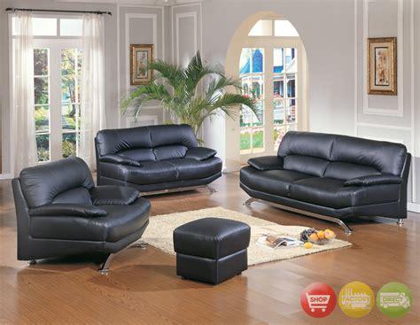 black livingroom furniture contemporary black leather living room furniture sofa set