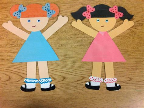 paper dolls craft paper doll pattern