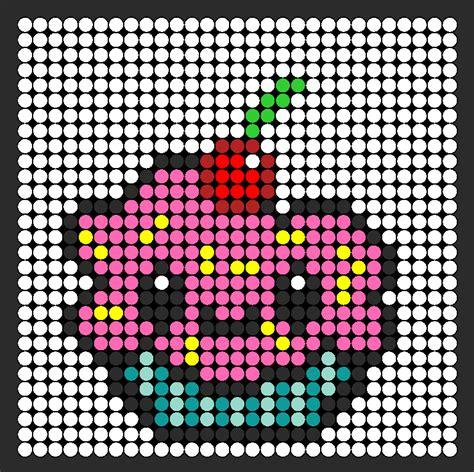 kawaii perler bead patterns kawaii cupcake perler bead pattern bead sprites