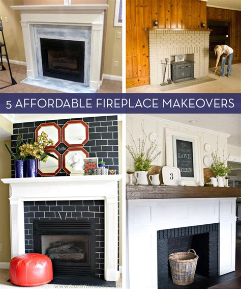 easy fireplace makeover before and after 5 budget friendly fireplace makeovers