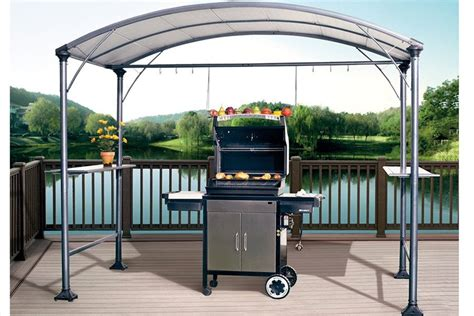 outdoor patio grill gazebo abba patio 9 x 5 outdoor backyard bbq grill