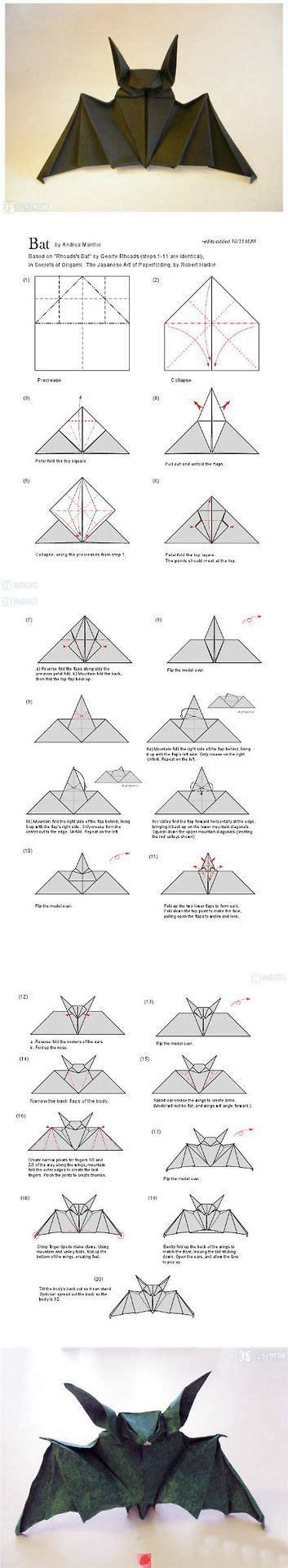 bat origami origami bat crafts ideas bats