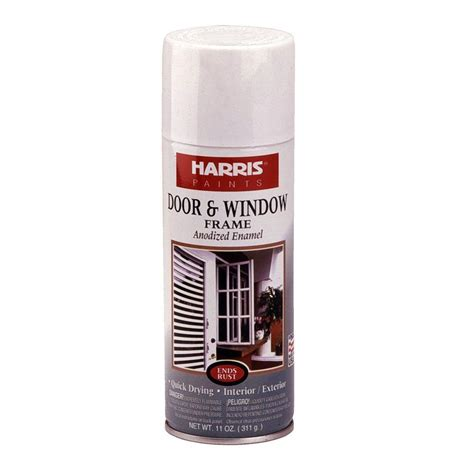 home depot vinyl paint harris 11 oz gloss white window and door frame spray