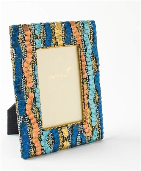 4x6 Beaded Sequin Frame Eclectic Picture Frames By