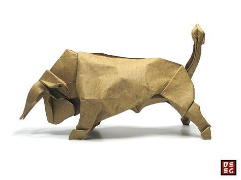 Origami Bull By Origamikuenstler On Deviantart