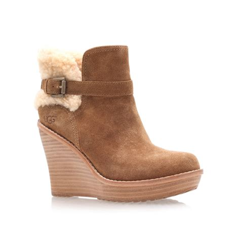 ugg boots ugg anais ankle boots in brown lyst