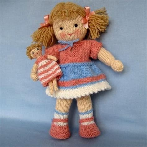 free knitted doll patterns lulu knitted doll knitting pattern by dollytime