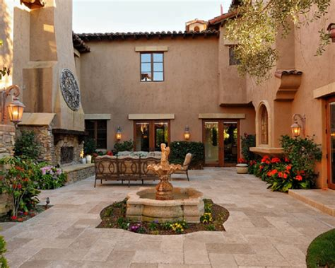 homes with courtyards style house plans with central courtyard house style design