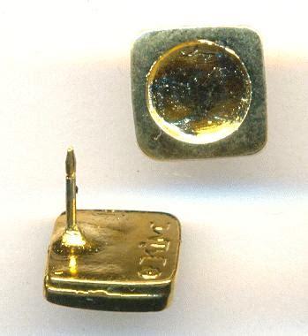 brooch jewelry supplies 9 5x9 5mm gold plated brooch pins jan s jewelry supplies