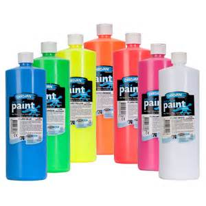 acrylic paint jugs derivan student fluorescent black light acrylics