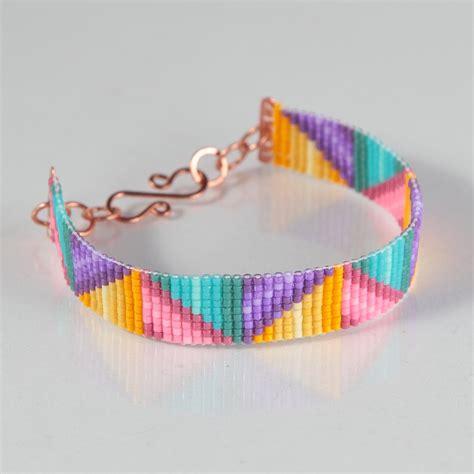 bead loom bracelets braided ribbons bead loom bracelet artisanal by puebloandco