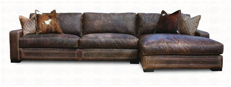 sectional sofa leather downtown cowboy leather sectional sofa collection santa