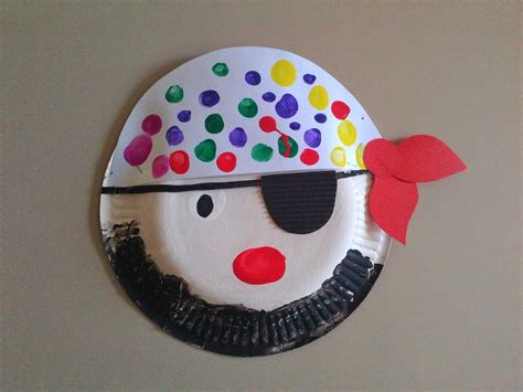 pirate crafts for paper plate pirate family crafts