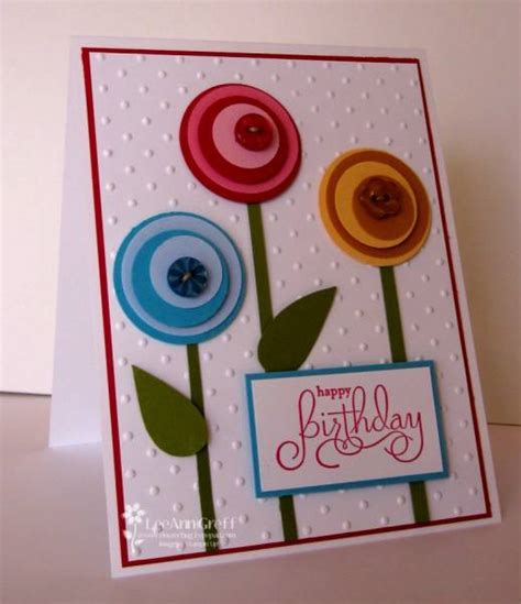 circle punches card punch lollipop flowers by flowerbugnd1 cards and