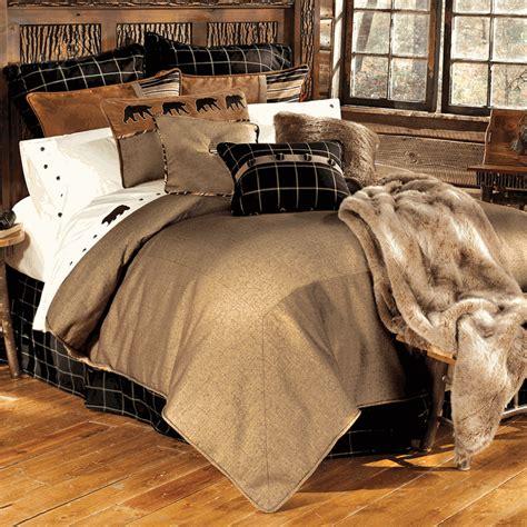 log bed set rustic bedding sets lodge log cabin bedding