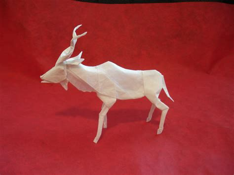 new origami origami kudu new version by origami artist galen on deviantart