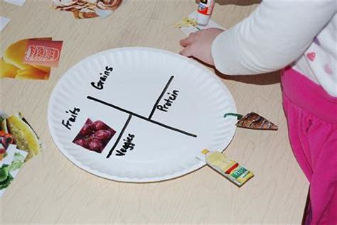 paper plate craft for preschoolers healthy food habits in preschool sorting and a paper