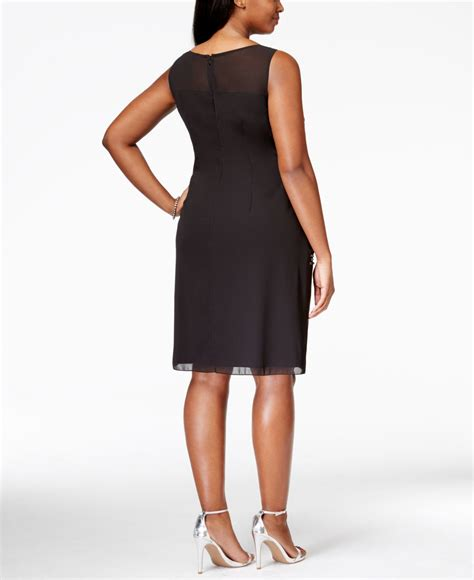 plus size beaded cocktail dresses papell plus size sleeveless beaded cocktail dress