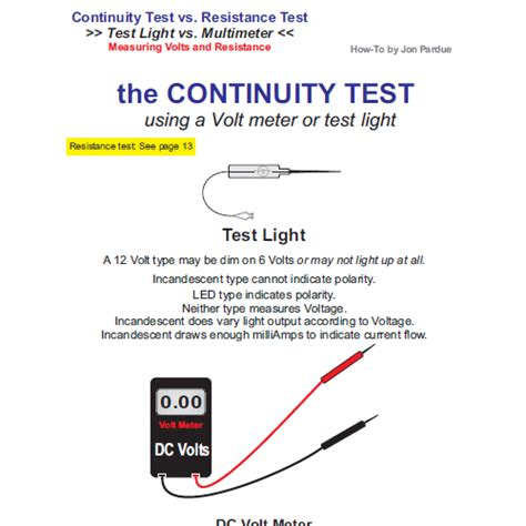 how to test continuity testing test light vs multimeter how to home