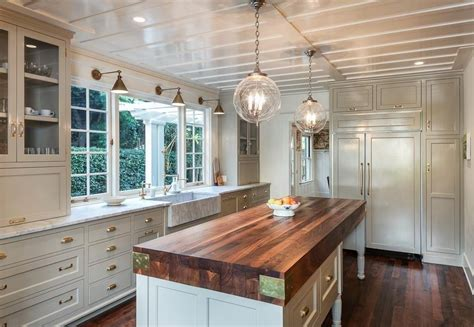 Kitchen Island Calgary cottage kitchen with farmhouse sink amp wood counters in