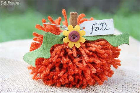 fall crafts to do with fall crafts simple diy yarn pom pom pumpkins