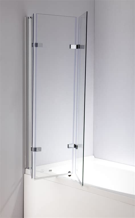 bath folding shower screens 3 fold chrome folding bath shower screen door panel 1300mm
