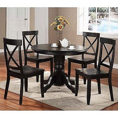 black 5 dining set home styles 5 pedestal dining set black table chairs kitchen furniture new what s it worth