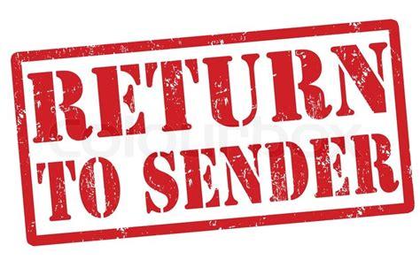 addressee unknown return to sender rubber st return to sender grunge rubber st a white