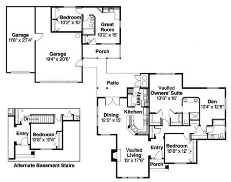 detached guest house plans house plans with detached guest suite