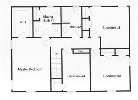 simple 4 bedroom floor plans 4 bedroom floor plans monmouth county county new