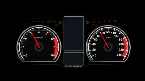 Car Meter Wallpaper by 4 K Animation Of Car Dashboard Speed Rpm Meter And