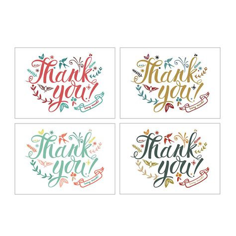 thank you card thank you cards by oakdene designs notonthehighstreet
