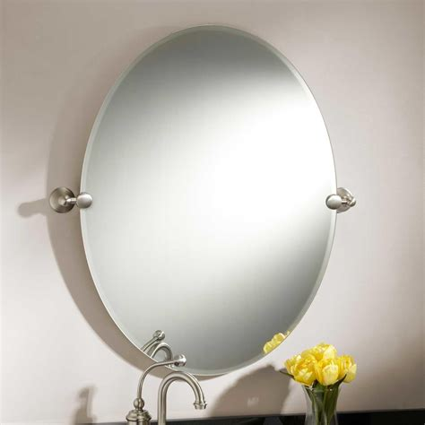 bathroom mirrors oval 31 quot seattle oval tilting mirror bathroom